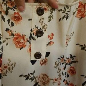 Rue21 Tops - Floral one piece bodysuit